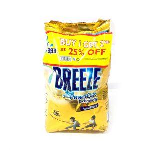 Buy 1 Get 2nd @ 25% Off Breeze Detergent Powder Active Bleach 680g