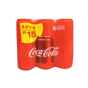 BUY 6 SAVE P15 Coca-Cola Regular 325ml 6s